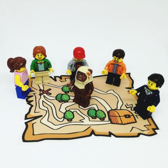 Teamwork Team LEGO Minifigure Lego Minifigures Bricks Minifigures Treasure Treasure Island Map Treasure Hunt  Treasure Map EyeEm Selects