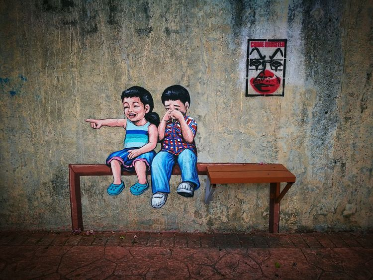 Childhood Childhood Sibling Children Only EyeEm Best Shots - The Streets Streetphotography Colors Streetphoto_colour Streetphotography_color Streetphotographyintheworld Streetphotographers Streetphotographer Streetphoto Street Photo Streetphotography Street PhotographyMalaysiaphotography Malaysia EyeEm Best Shots EyeEm EyeEmBestPics EyeEm Gallery Eyeemphotography Wallart Wallpainting Wall Murals BYOPaper!