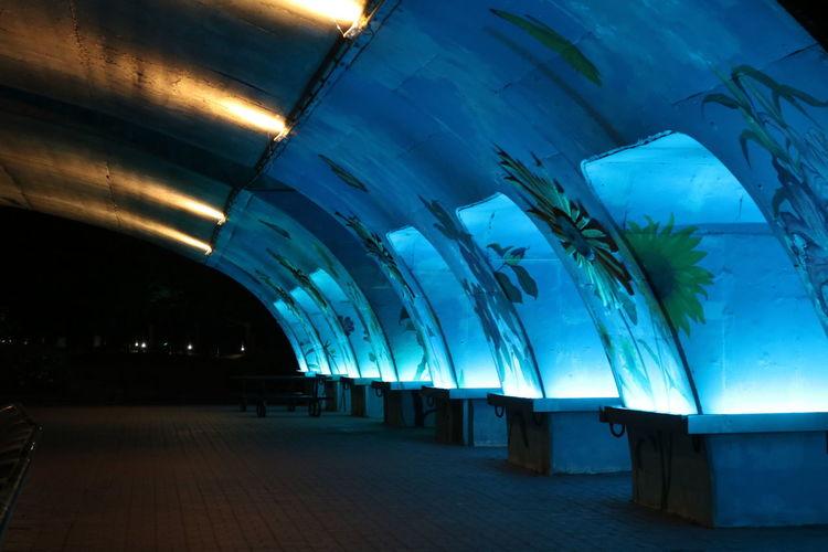 Architecture Illuminated Night