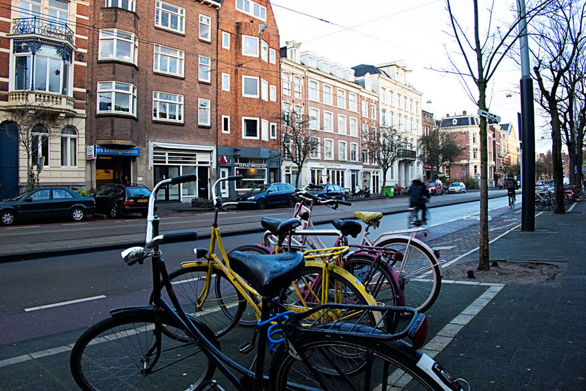 Amsterdam Architecture Bicycle Building Exterior Built Structure City City Life City Street Day Europe FUJIFILM X-T10 Land Vehicle Mode Of Transport No People Outdoors Photography Street Transportation Travel Travel Destinations Urban Lieblingsteil The Street Photographer - 2017 EyeEm Awards