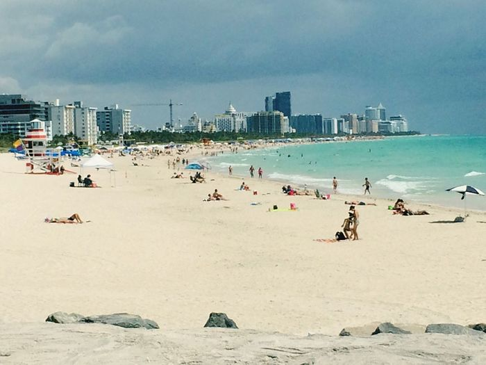 Miami beach 🇺🇸 IPhoneography Florida USAtrip EyeEm Selects Beach Sand Sea Vacations Sky Shore Travel Destinations Water Cloud - Sky Summer Outdoors City Building Exterior Horizon Over Water Water's Edge Architecture Scenics Nature Day Built Structure