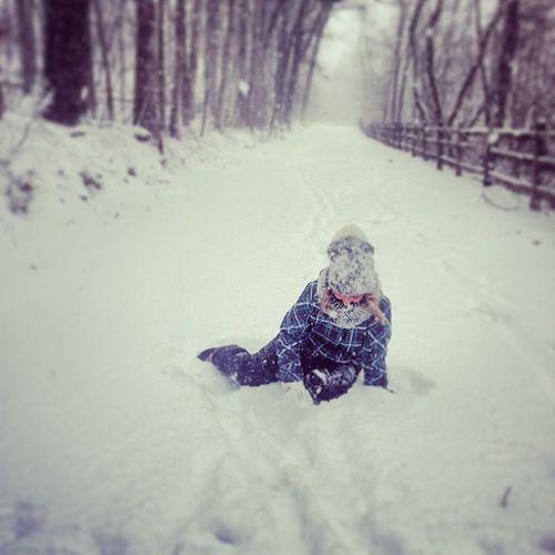 hahaha man down Attacked Leavemebehind TiredAF Snow