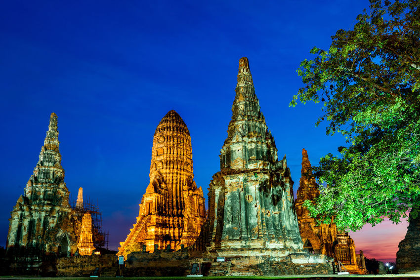 Wat Chaiwatthanaram of Ayutthaya Historical Park, Thailand Ayutthaya Ayutthaya Historical Park, Thailand Thailand Ancient Civilization Architecture Belief Building Building Exterior Built Structure History Nature Place Of Worship Religion Sky Spirituality The Past Tourism Travel Destinations