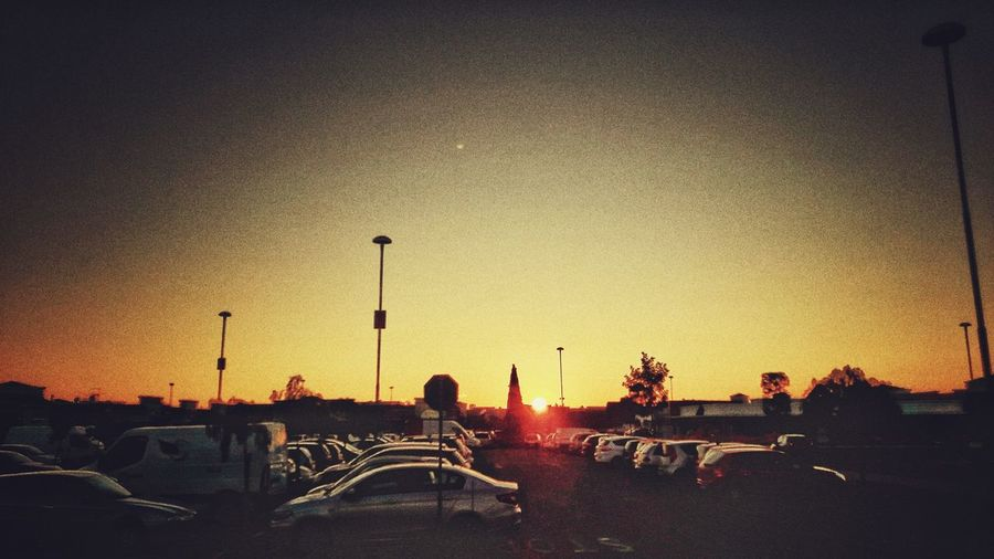 Sunset Parking CC Commercial Centre  Da Vinci Cars Sun Sunset Sky
