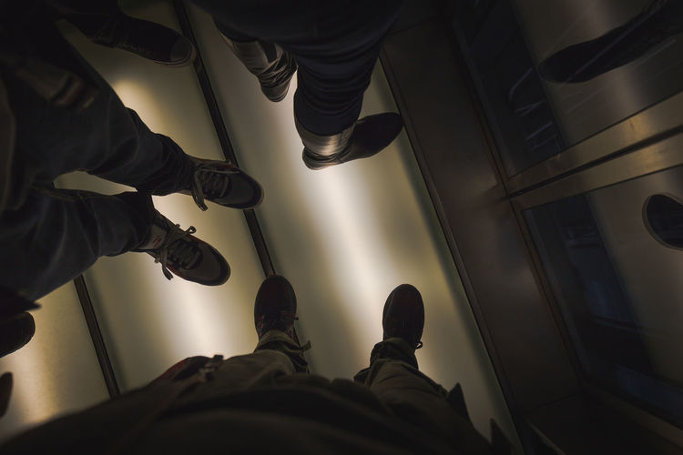 Low section of men on floor