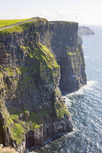 Cliff of Moher in County Clare, Ireland Rock Beauty In Nature Scenics - Nature Rock - Object Tranquil Scene Rock Formation Sea Tranquility Solid Nature Cliff Water Land Day No People Mountain Sky Outdoors Non-urban Scene Formation Eroded Stack Rock Rocky Coastline