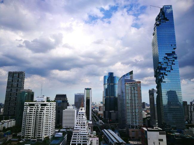 Silom bangkok Thailand Building And Sky construction