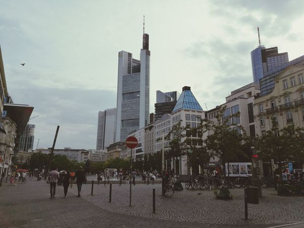 Frunkfurt Germany Built Structure Building Exterior Architecture Modern Business Finance And Industry City Travel Destinations Skyscraper Cloud - Sky Cityscape Urban Skyline Sky Outdoors Day Tree People