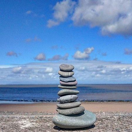 Rock Pile Cairn Beach Coast Sea