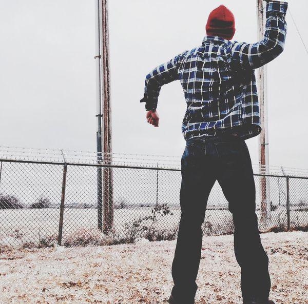 Throwing stones Winter Taking Photos Outerwear