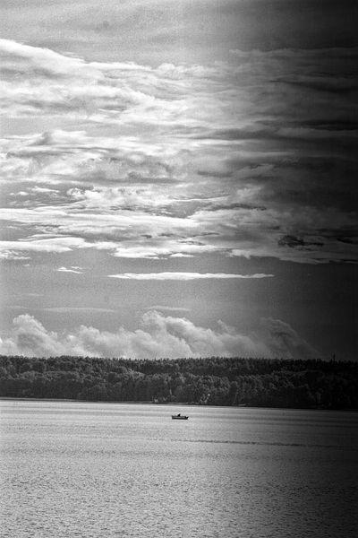 Fisherman's Friend Hdr_Collection Skyporn Sky_collection Fisherman Lake Unusual Black & White Grainy Shaded