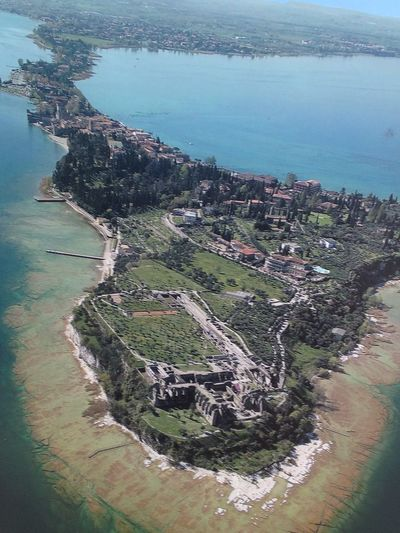Sirmione Lake Water Sea Aerial View Nature Growth High Angle View Tree Outdoors Scenics No People Beauty In Nature Sky Day