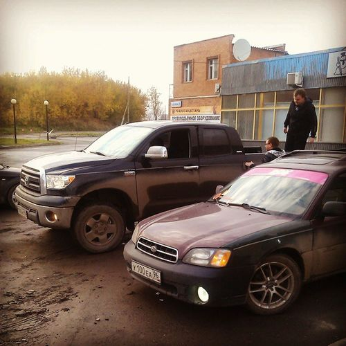 Встретились с другом Tundra Subaru Toyota_tundra Subaru_outback