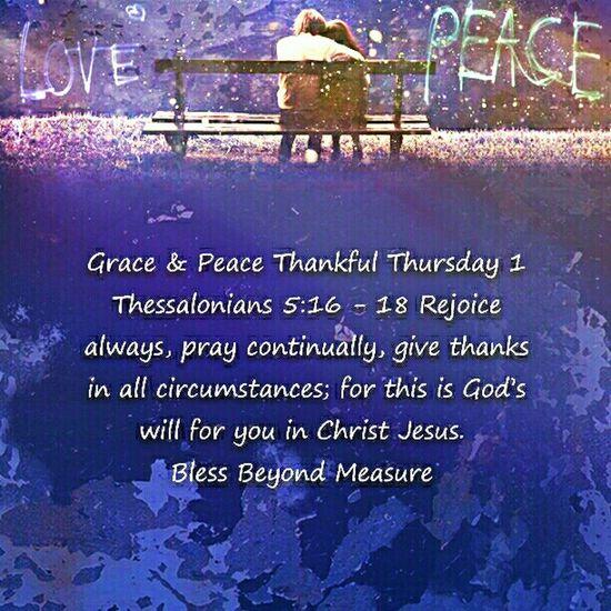 Grace & Peace Thankful Thursday
