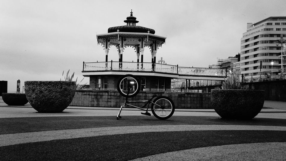 Brighton Band Stand ft. BMX City Travel Travel Destinations No People Sky Architecture Outdoors Day Bicycle Silhouette Architecture Brighton Hove England Blackandwhite City Life Cityscape South Bmx  Bmx Bikes Bmxlife Bmxphotography Winter Bmxstreet Bmxing