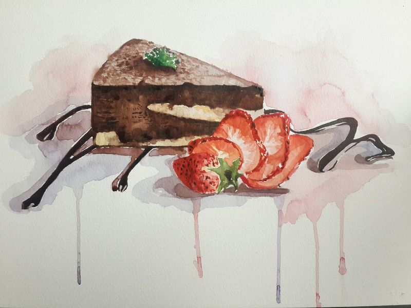 ❤My Drawing Cake Delicious Relaxing Time Watercolor Looksgood Enjoying Life