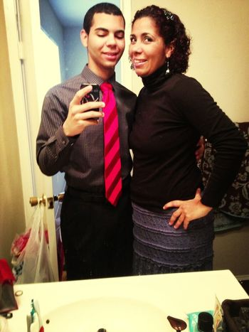 Me And Me Mom Ready For Church
