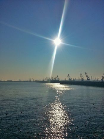 Constanta seaport Beauty In Nature Scenics Nature Water Sea Outdoors Sky Clear Sky No People Day Horizon Over Water Reflections Black Sea Port EyeEmBestPics Sunlight EyeEm Gallery EyeEm New Here