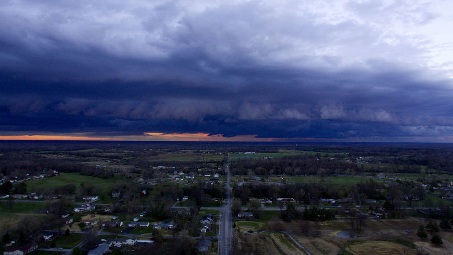 A storm rolls into Carterville, Illinois on a cloudy evening. DJI Phantom 3 Drone  Aerial Aerial View Beauty In Nature Cloud - Sky Clouds Clouds And Sky Day Dji Landscape Nature No People Outdoors Scenics Sky Storm Cloud Tranquility