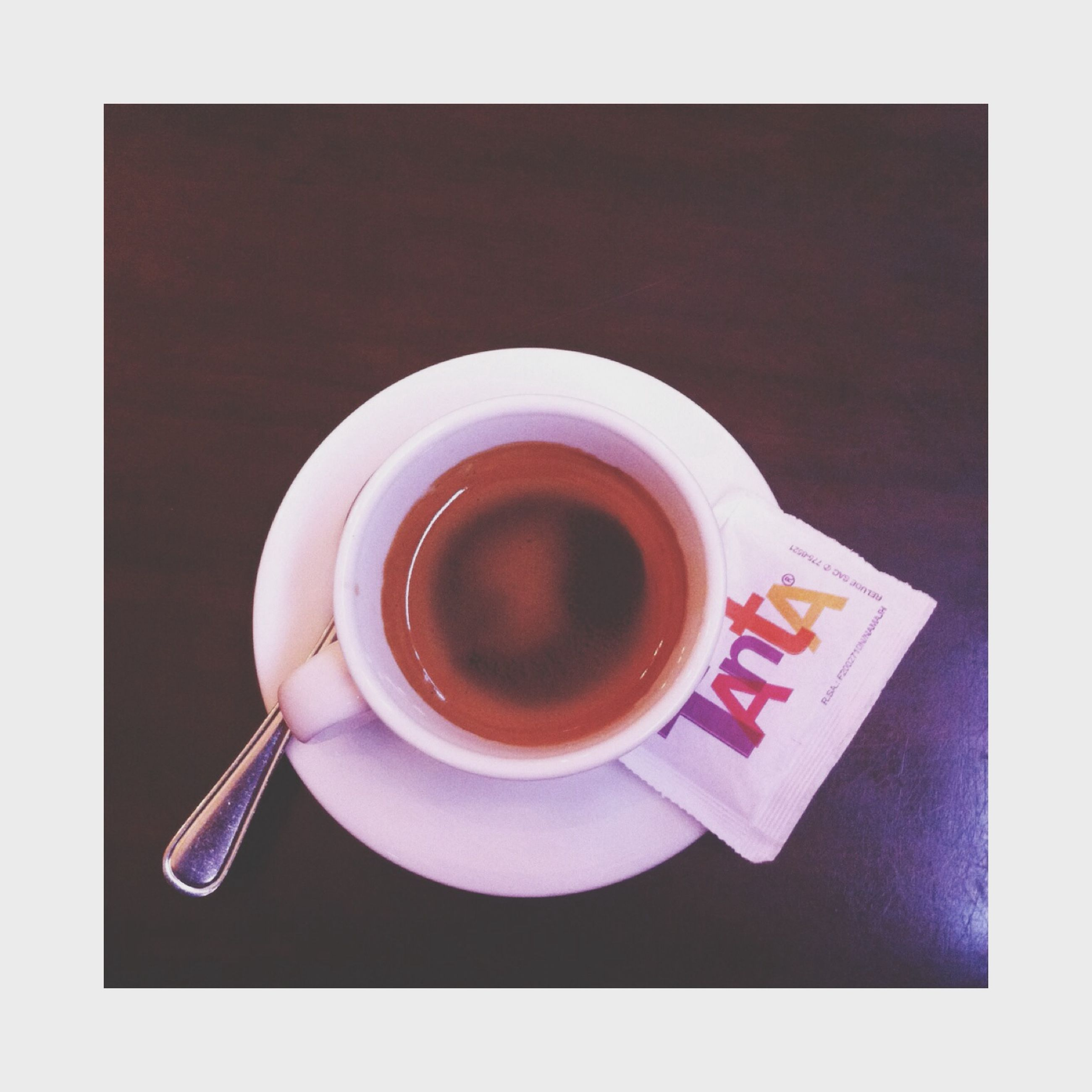 coffee cup, drink, food and drink, refreshment, coffee - drink, indoors, coffee, saucer, cup, freshness, table, spoon, still life, transfer print, high angle view, directly above, tea cup, tea, beverage, auto post production filter