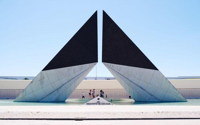 Lisbon Fujifilm X-t20 Architectural Feature Geometric Shapes Urban Geometry Architecture_collection Architecture The Graphic City Architecture Clear Sky Built Structure Travel Destinations Outdoors Day Building Exterior Modern Sky Colour Your Horizn