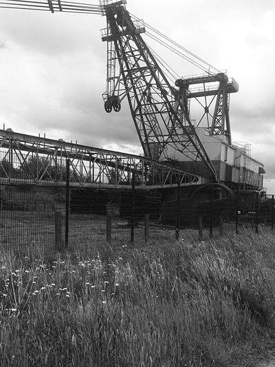 Bnw_friday_eyeemchallenge Walking Around Dragline Industrial Past