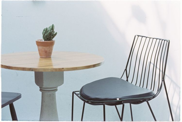 Empty chair!! Film Photography 35mm Film Fujieterna Empty Home Showcase Interior Furniture Chair Table Outdoor Chair Seat Architecture Close-up First Eyeem Photo