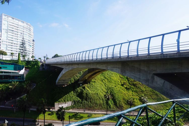 Bridge - Man Made Structure Connection Architecture Built Structure Transportation Sky Day Outdoors Footbridge Low Angle View Tree Nature City No People EyeEmNewHere Perspectives On Nature