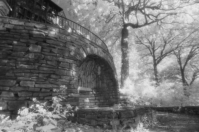 35mm Film Abandoned Al Analogue Photography Arch Architecture Building Exterior Built Structure Day Eerie Eeyem Photography Haunted History Infrared Photography Landscape Nature Old Outdoors Scenics Sky Spoon Stone Wall The Past Wall - Building Feature Weathered