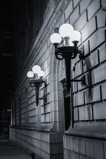 Welcome To Black Lights Street Street Lights City Lights Lamp Bulbs Sweet Black And White Monochrome Photography Monochrome Steel Cement Building Building Exterior No People Architecture Instadaily Instagood