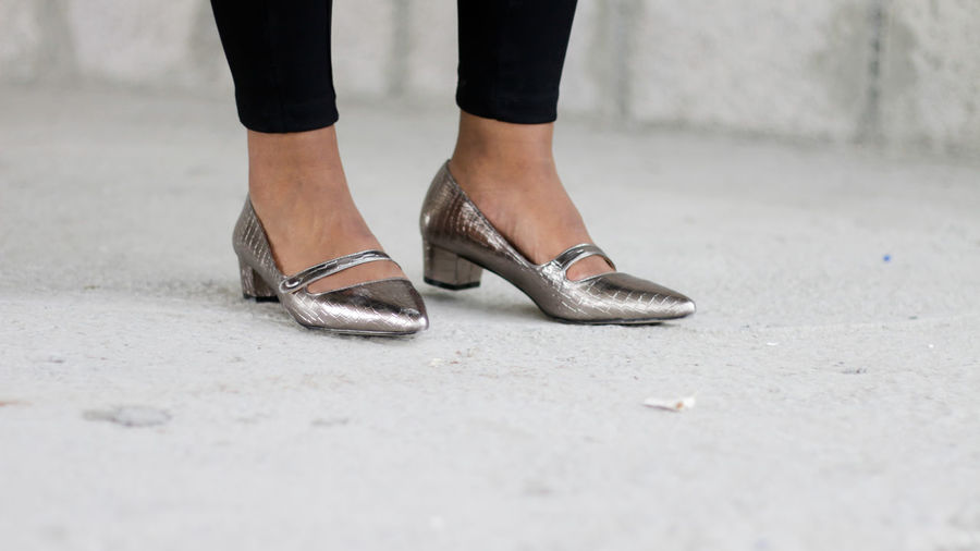 Adult Close-up Day Human Body Part Human Leg Low Section One Person Outdoors People Real People Shoe Silver Shoes Standing