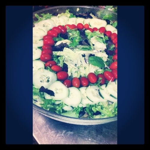 Makin salad at work! :/ Salad SpaceKid Hiltonhotel Baby Titan