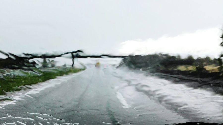 Pluie Route Voiture Flou Naturel