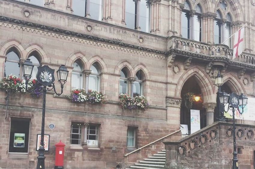 Architecture Building Exterior Built Structure Outdoors Town City City Street Chester Town Hall