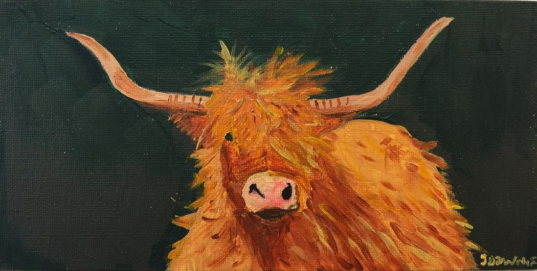Humphrey the highland cow painted by me Myartwork ArtWork MyArt Art Portrait Painting Acrylic HighlandCows Art #illustration #drawing #draw #tagsforlikes #picture #photography #artist #sketch #sketchbook #paper #pen #pencil #artsy #in Artist