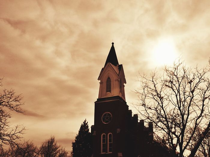 Church Church Tower Church Architecture Church Buildings Churchtower Building Exterior Building And Sky Sunshine Cloudy Day Cloudy Filter Red Outdoors Ourdoors Architecture Cross Crosses