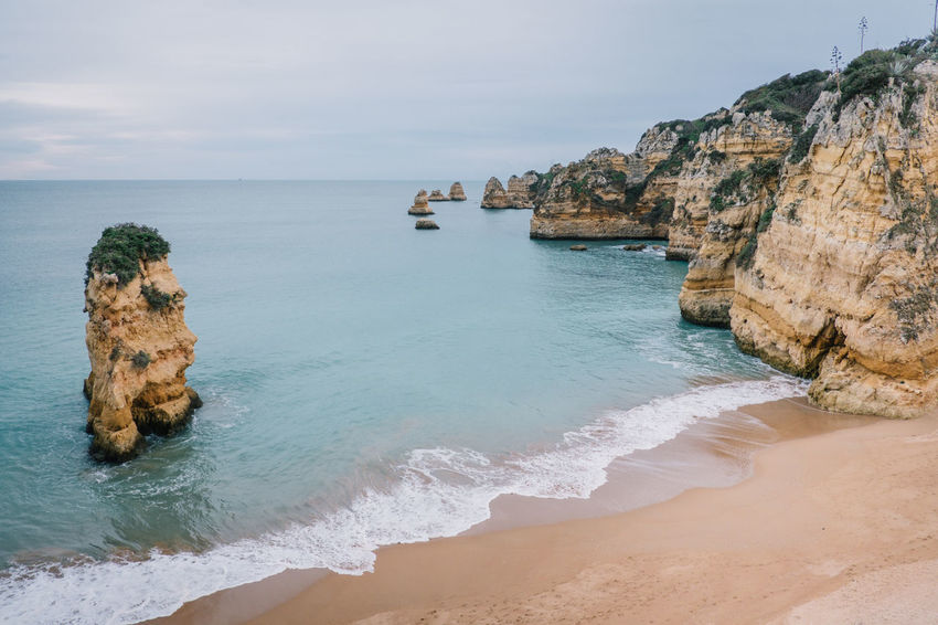 Lagos Algarve Atlantic Atlantic Ocean Lagos Ponta Da Piedade Portugal Praia De Dona Ana Travel Beach Beauty In Nature Day Horizon Over Water Nature No People Ocean Outdoors Rock - Object Sand Scenics Sea Seaside Sky Tarvel Destination Tranquil Scene Tranquility Water Wave