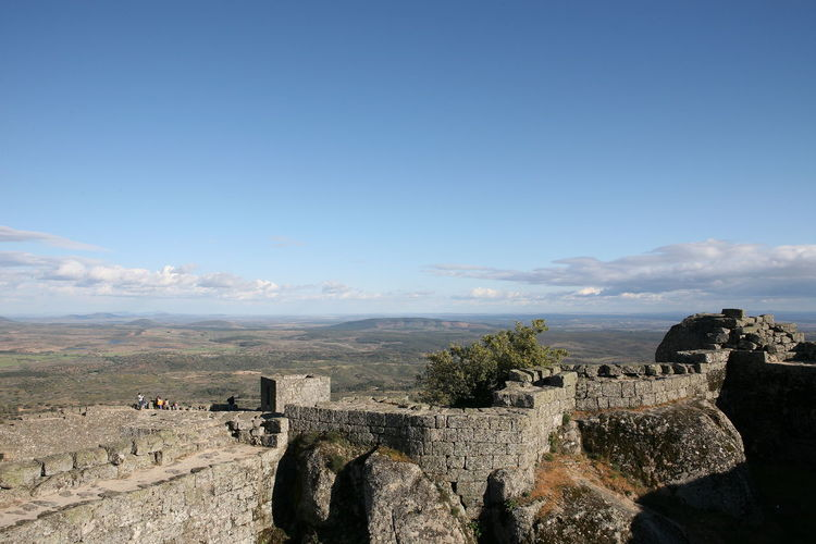 Panoramic view of fort against sky