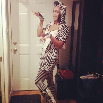 Happyhalloween Zebra last minute Costumes seem to Workout just fine zebracostume Halloween dressup