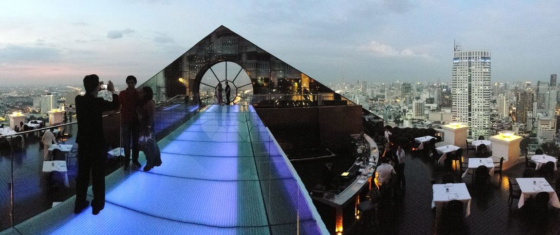 Skybar at Lebua Bangkok Architecture Urban Skyline City Cityscape Travel Destinations Skyscraper Sky Night Modern Skybar Sky And City Citylights Bangkok Lebuastatetower Nightlife Night Lights