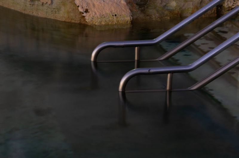 Absence Architecture Copy Space Day Desk Empty Flooring In A Row Ladder Metal Nature No People Old Outdoors Playground Railing Seat Staircase Wall - Building Feature