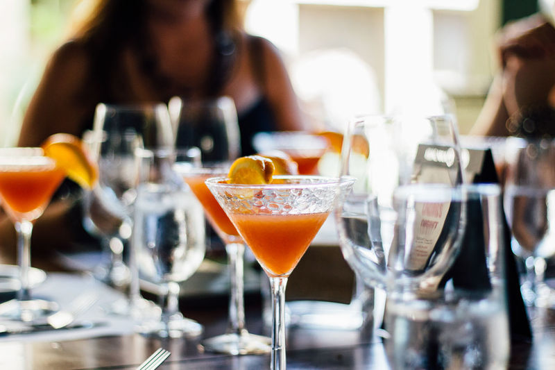 Martinis Served On Table