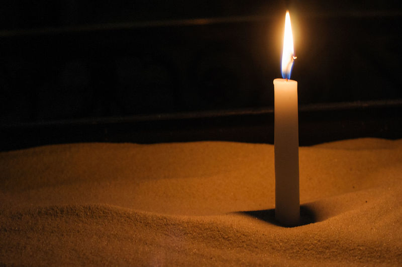 Easter Candle Easter Ready Hope Light And Shadow Sand