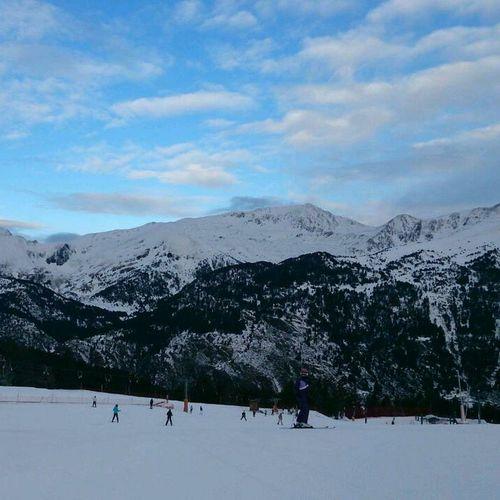 Andorra Ski El Tarter Mountains And Sky #snow