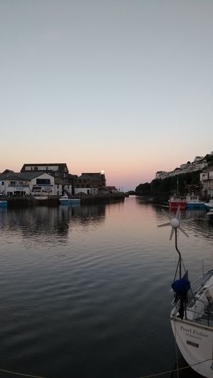 Looe Sunset. Sky Sunset Outdoors Reflection Lake Water Horizon Over Water Day No People Nature Looe Harbour EyeEmNewHere Looe Cornwall, UK. Boats⛵️ Fishing Boats