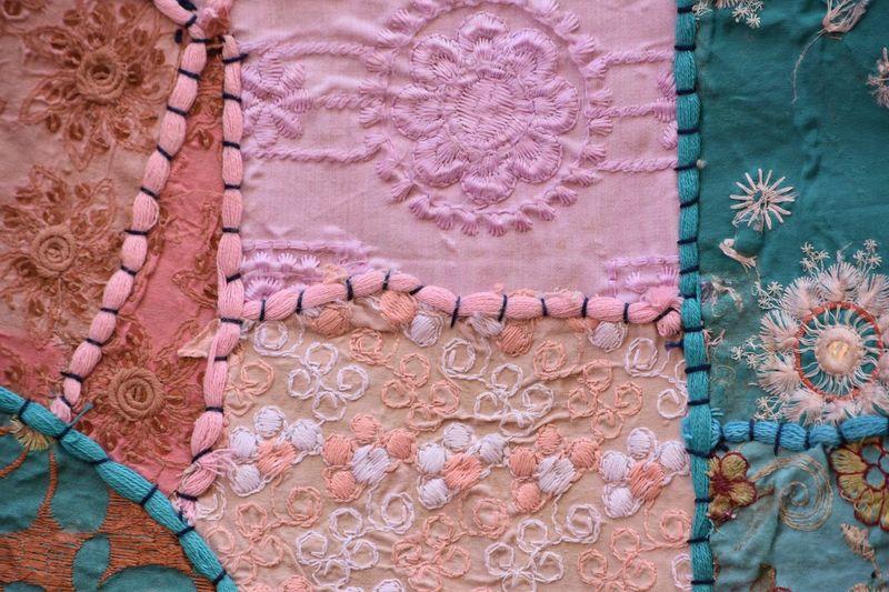 Full frame shot of handmade fabric