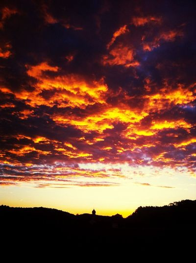 Sky is on fire Sky Morning Beautiful Nature Clouds And Sky