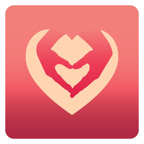 Close-up of heart shape on red background