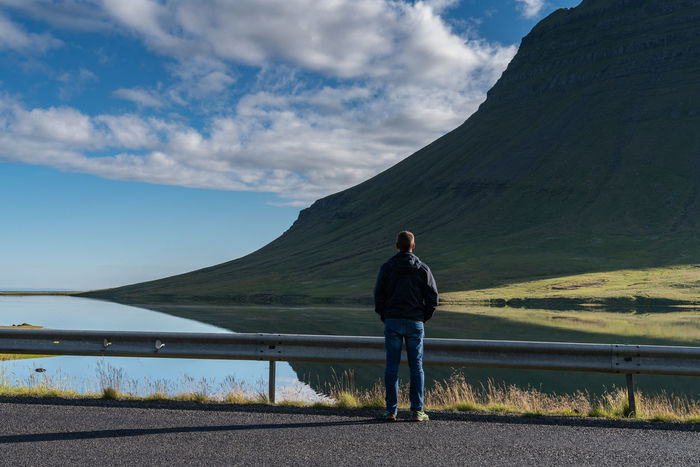 me... Perfect Day Reflection Beautifuliceland Beauty In Nature Casual Clothing Cloud - Sky Day Full Length Leisure Activity Lifestyles Mountain Nature Non-urban Scene One Person Outdoors Real People Rear View Scenics - Nature Sky Standing Tranquil Scene Water