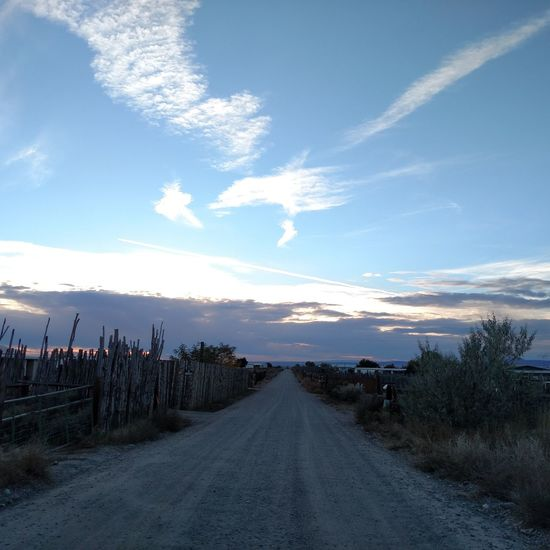Road Taos New Mexico Sky Cloud - Sky No People Outdoors Road Blue Landscape